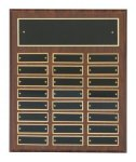 Cherry Finish Perpetual Plaques Achievement Award Trophies