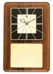 American Walnut Wall Clock with Black & Gold Face Sales Awards
